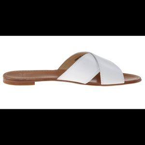 Stuart Weitzman Byway White Leather Sandal Size 8